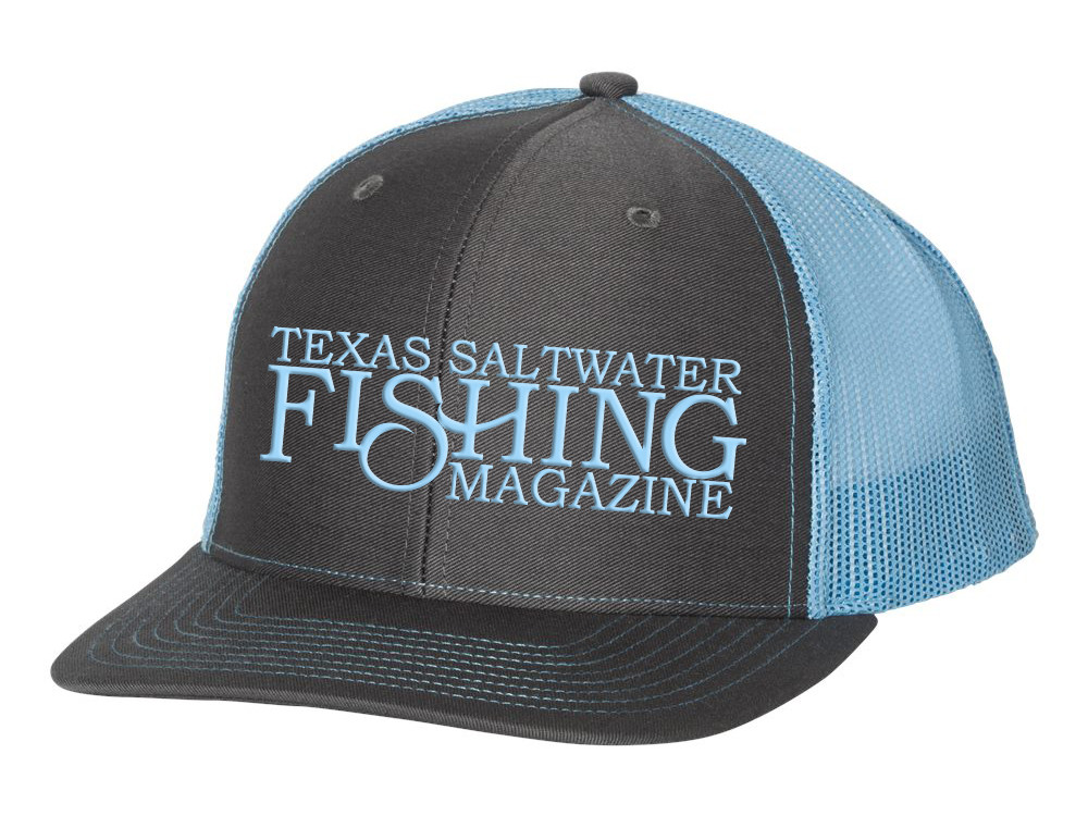 Tsf mag charcoal blue cap texas saltwater fishing magazine for Texas saltwater fishing magazine