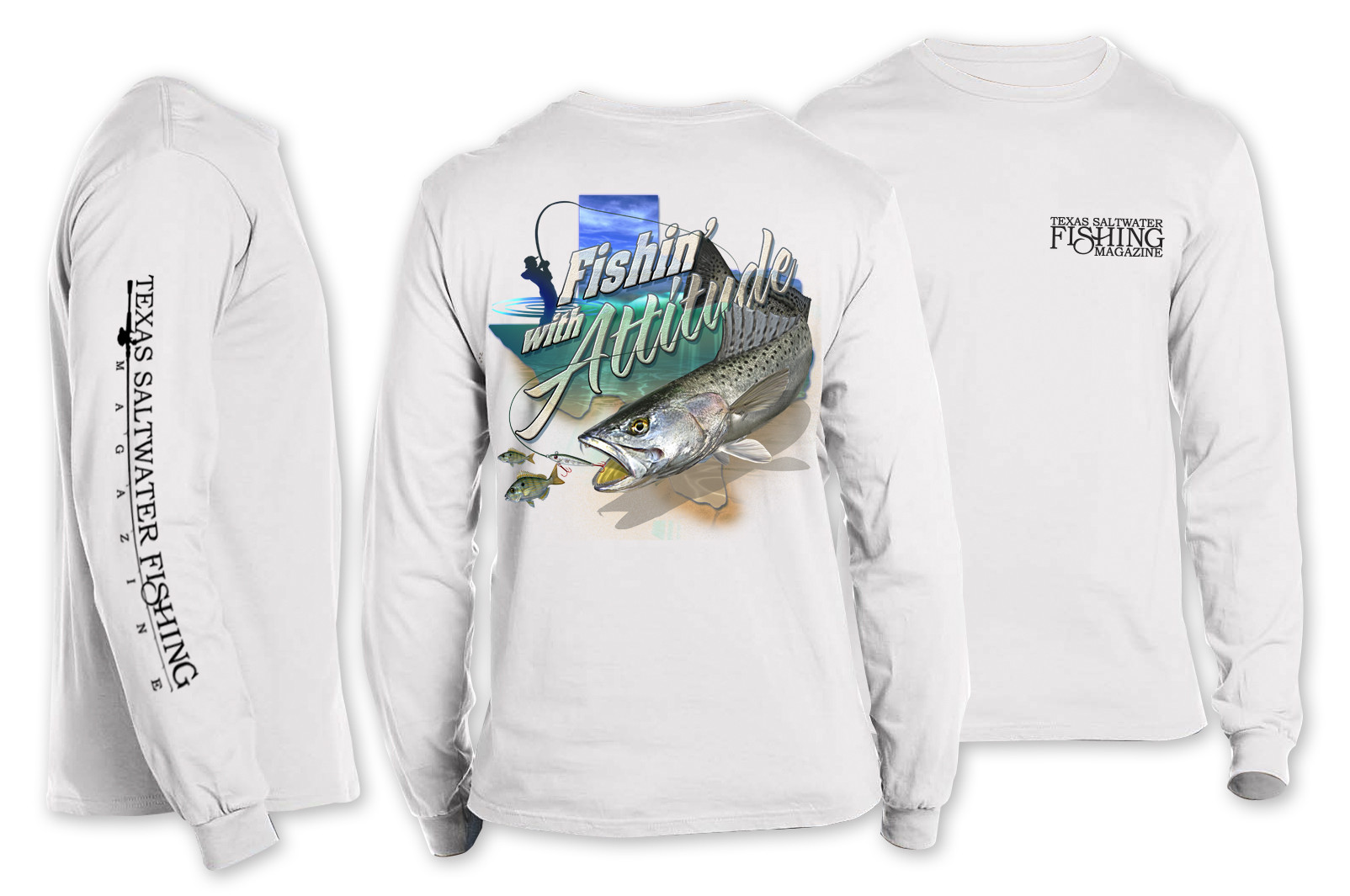 Fishin' with Attitude Long Sleeve T-shirt