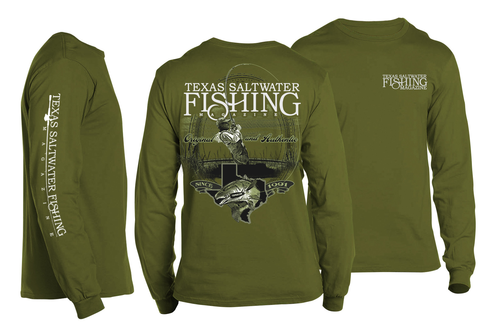 Original & Authentic Redfish Long Sleeve T-shirt